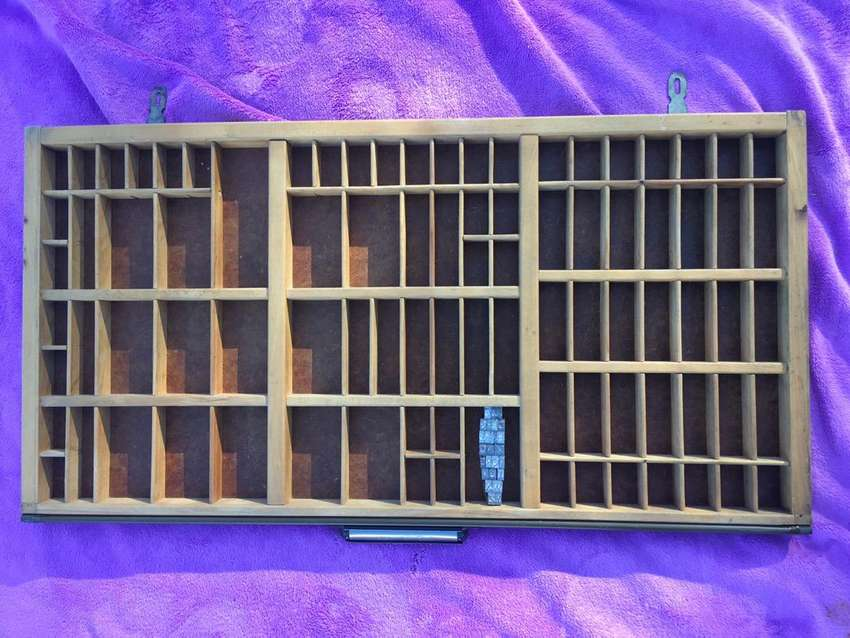 Original wood and steel printers tray 0