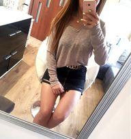 Luźna asymetryczna sweterkowa bluzka primark