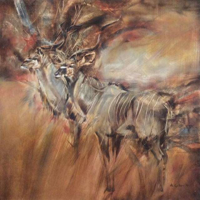 Kudu Painting - Painted by Vic Guhrs 0