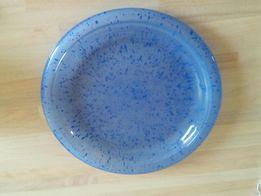 Talerz patera niebieskie szkło