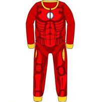 Пижама флисовая сдельная Марвел Айронмен, теплый слип для мальчика 2-8