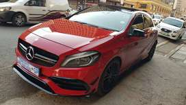 Mercedes A45 AMG leather seat and sunroof