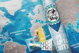 Скретч-карта світу (скретч-карта мира) Discovery Map укр., англ.