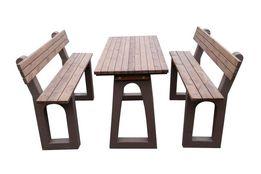 Stół z ławkami, zestaw betonowy, ławki betonowe