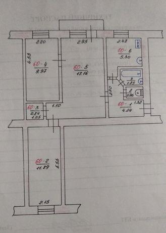 3-х комнатная кв. обмен на Лозовая