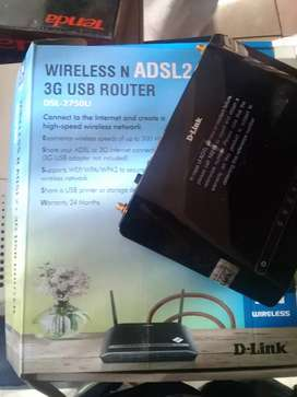 D-link wireless n adsl2 3G usb router