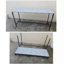 Stainless Steel Catering Table with removable legs; Gas Deep Fryers