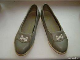 Серые осенние туфли на девочку р.22