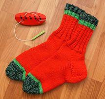 Арбузики носочки вязанные 37р (шкарпетки в'язані) на заказ