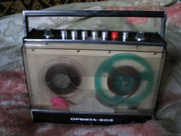 Катушечный (бобинный) магнитофон Орбита 303 + 2 бобины. РАРИТЕТ.