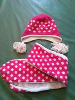 Шапочка шарфик зимний комплект Lenne