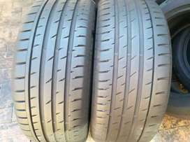 2×255/55/18 Continental tyres for sale