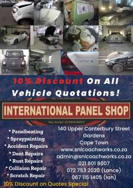10% Discount on All Vehicle Repair Quotes