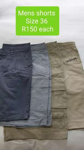 2nd Hand Mens Shorts Size 36 R150 each