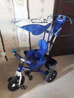 Детский трехколесный велосипед Lexus Trike синий надувные колеса б/у