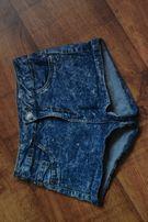jeansowe krótkie spodenki wysoki stan Bershka xxs