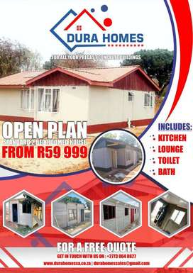 Precast concrete houses and walling