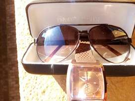 EMPORIO ARMANI SHADES WITH TAG HEUER PHLAT FACE ROSE GOLD MENS WATCH