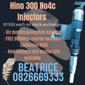 Hino 300 No4c injectors for sale