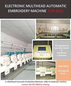 Electronic Multihead Automatic Embroidery Machine