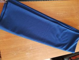 NOWY GRANATOWY BISTOR materiał na tunikę sukienkę wysokogatunkowy