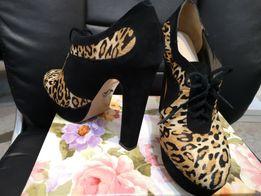 Замшевые туфли Mia May, мех пони 40 размер