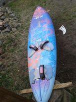 Deska windsurfing, kevlar, carbon 120 litrów 4 footstrapy.
