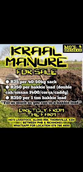 Kraal Manure / Fertilizer for sale