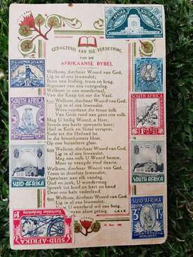 Beautiful card commemorating the new Afrikaans Bible in 1953