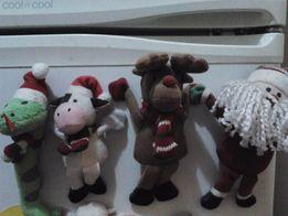 Магниты Новый год -Дед Мороз,Олень,Корова,Змея