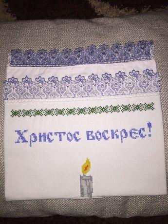 Пасхальний рушник з кольоровим мереживом Львов - изображение 3