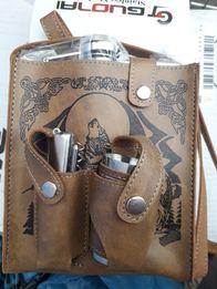 Переносная фляга в сумке+3 стакана +мультинож