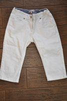 białe jeansowe rybaczki 10 lat r. 140-146