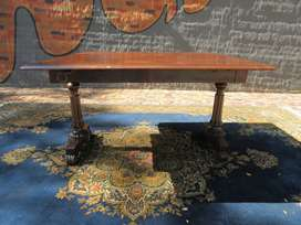 English, antique, drop leaf dining table