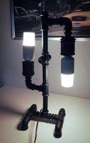 Lampa Loft ze ściemniaczem, żeliwna, oryginalna, czarna 50cm