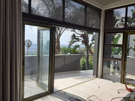 Alluminium starking folding doors and sliding doors