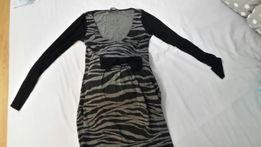 Sukienka ciążowa z kokardą elegancka wizytowa