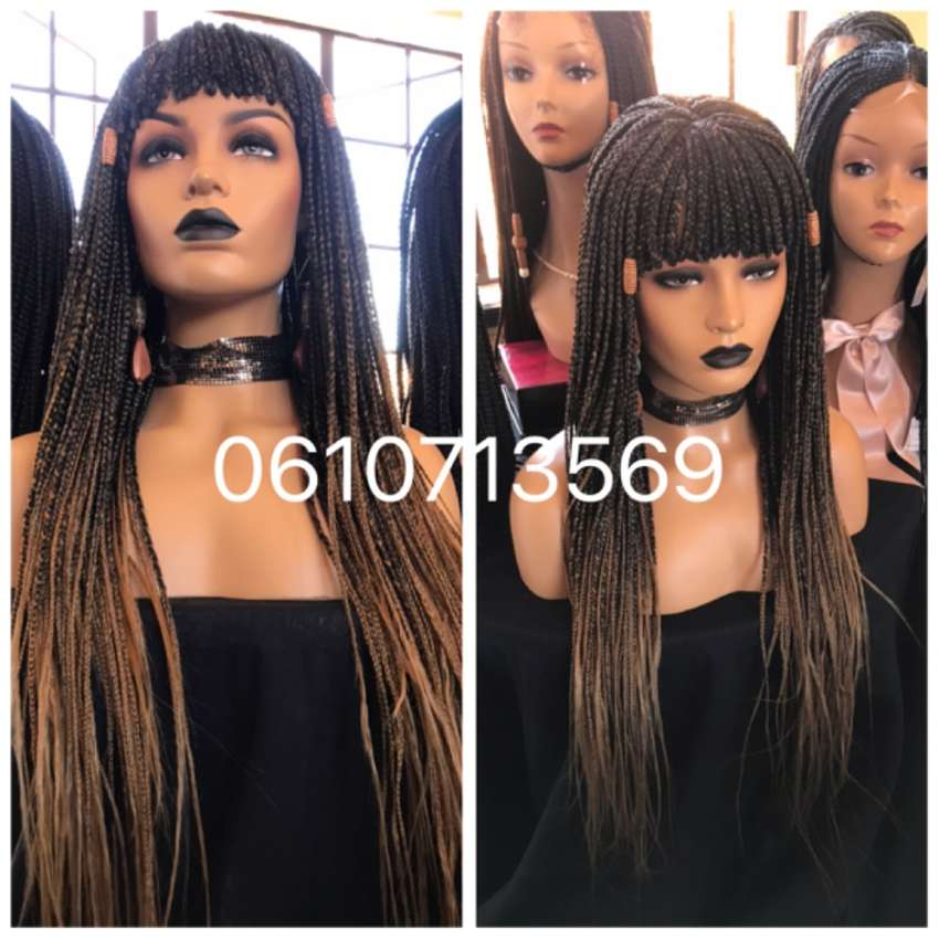 Stunning ombré lace top fringe braid wig