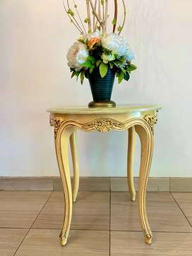 Small Side Table with Green Onyx Marble Counter top