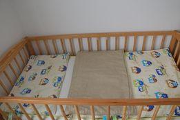 Pościel dwustronna do łóżeczka dziecięcego + ochraniacz na szczebelki