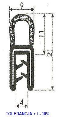 Uszczelka gumowa zbrojona na rant uniwersalna B10 Skierniewice - image 4