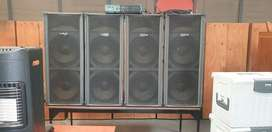 Vidal Sound System COMES with 4 Speakers Amp and Mixe