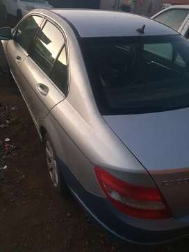 W204 Mercedes benz with v6 engine stripping.