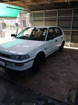 Hi I'm selling my 95 model Toyota conquest 1.3 for 33500