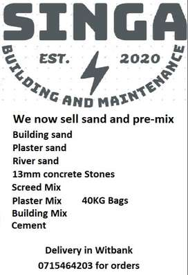Sand and pre-mix