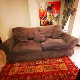 2 x 2,5 Seater Couches with Coricraft Fergie Slipcovers and cushions