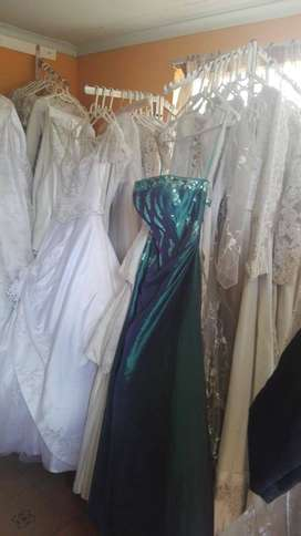 Wedding gowns to clear