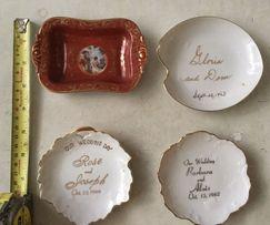 Раритетные тарелки( три свадебные)