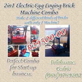 Electric egg laying brick making equipment combo
