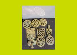 Small Antique Brass Trivets - Priced Individually - SKU 505